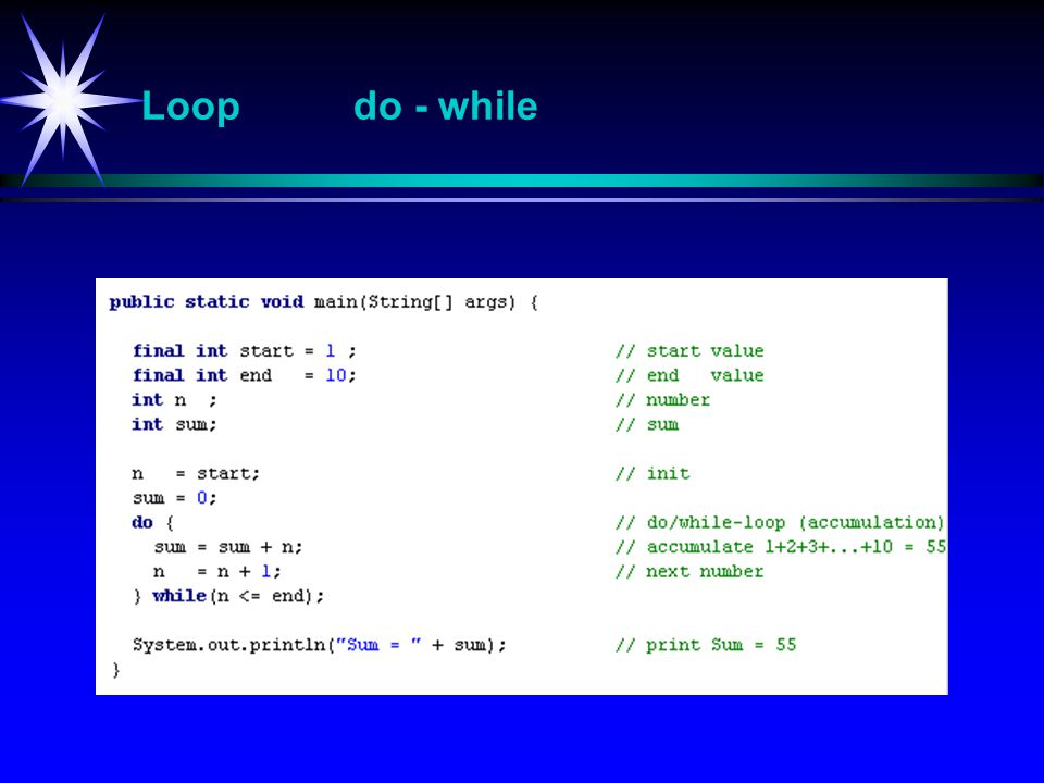 Loop do - while