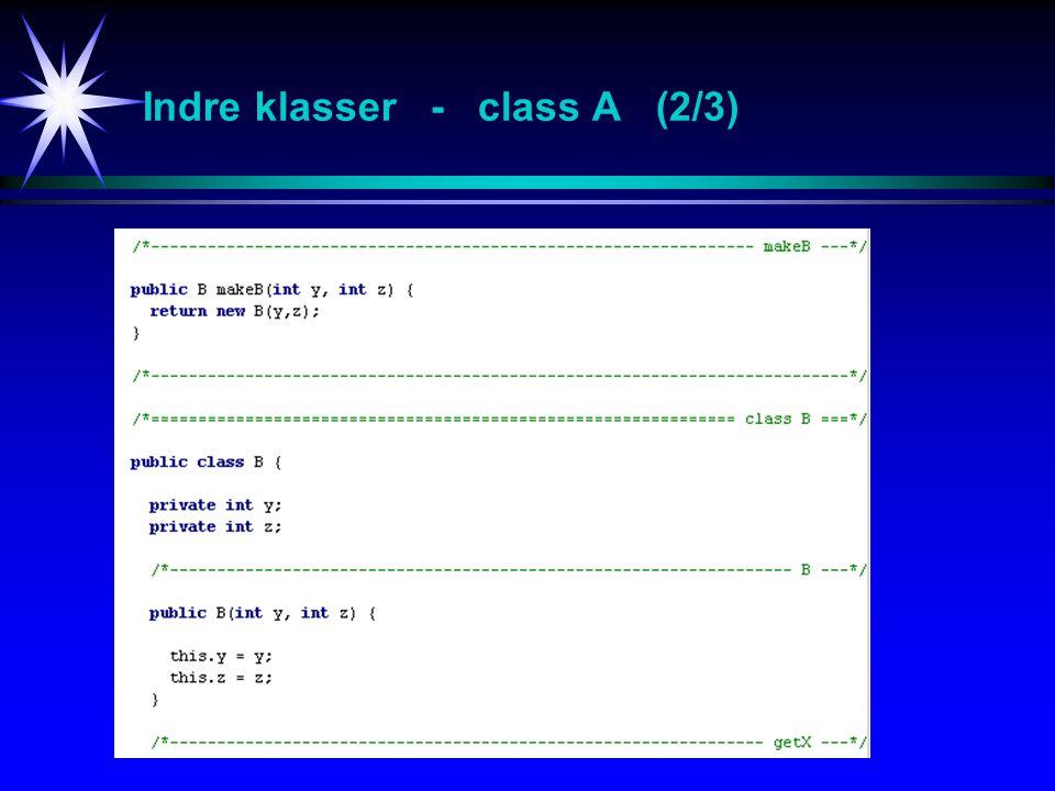 Indre klasser - class A (2/3)