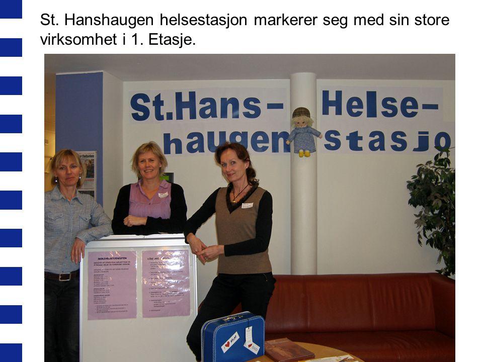 St. Hanshaugen helsestasjon markerer seg med sin store virksomhet i 1. Etasje.