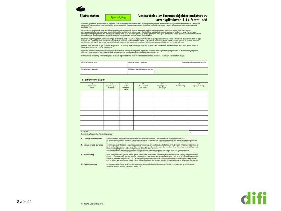 9.3.2011Direktoratet for forvaltning og IKT