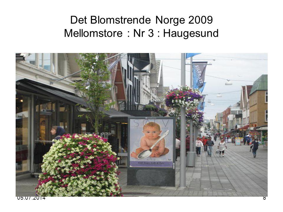 05.07.20148 Det Blomstrende Norge 2009 Mellomstore : Nr 3 : Haugesund NORSK SENTRUMSFORUM