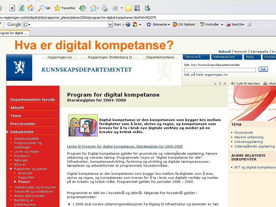 F O R S K N I N G S- O G K O M P E T A N S E N E T T V E R K F O R I T I U T D A N N I N G 8Rogaland II7/5/2014 Hva er digital kompetanse?
