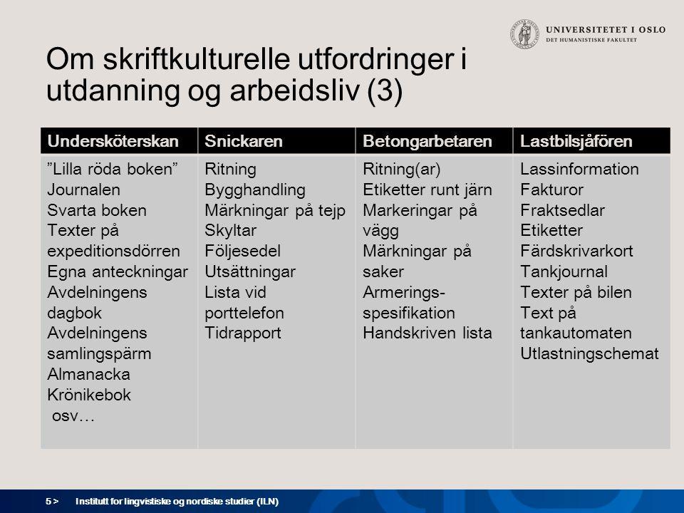 6 > Institutt for lingvistiske og nordiske studier (ILN) Hvordan møte utfordringene.