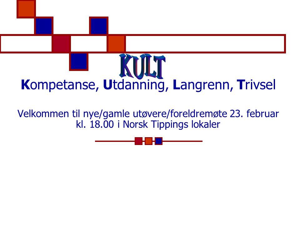 Kompetanse, Utdanning, Langrenn, Trivsel Velkommen til nye/gamle utøvere/foreldremøte 23.