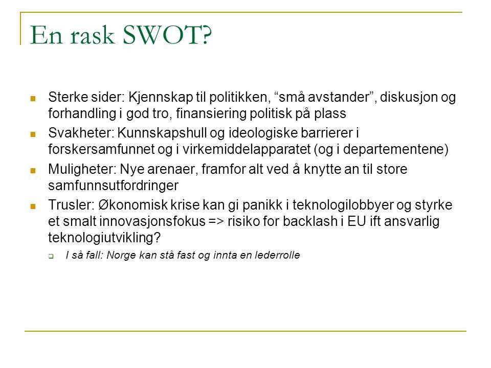 En rask SWOT.