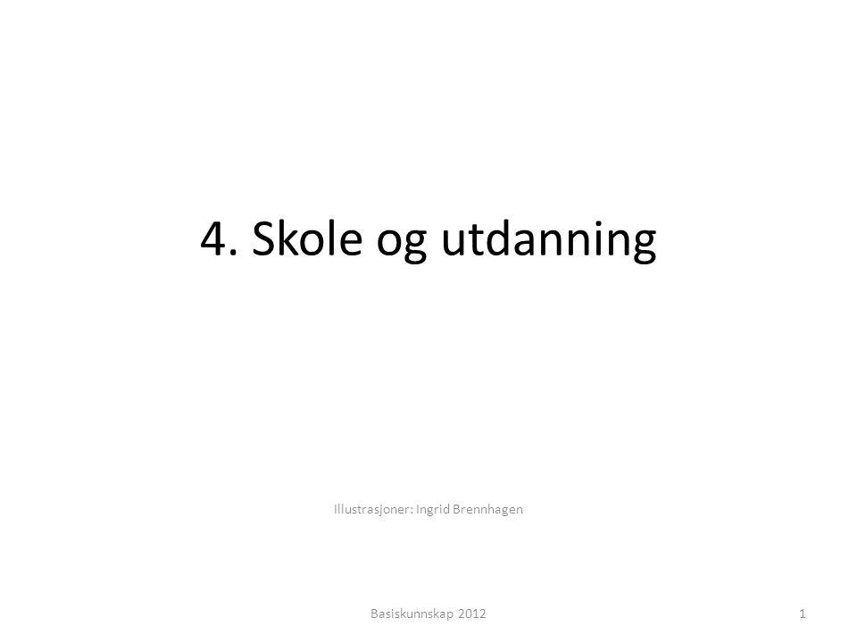 4. Skole og utdanning Illustrasjoner: Ingrid Brennhagen 1Basiskunnskap 2012