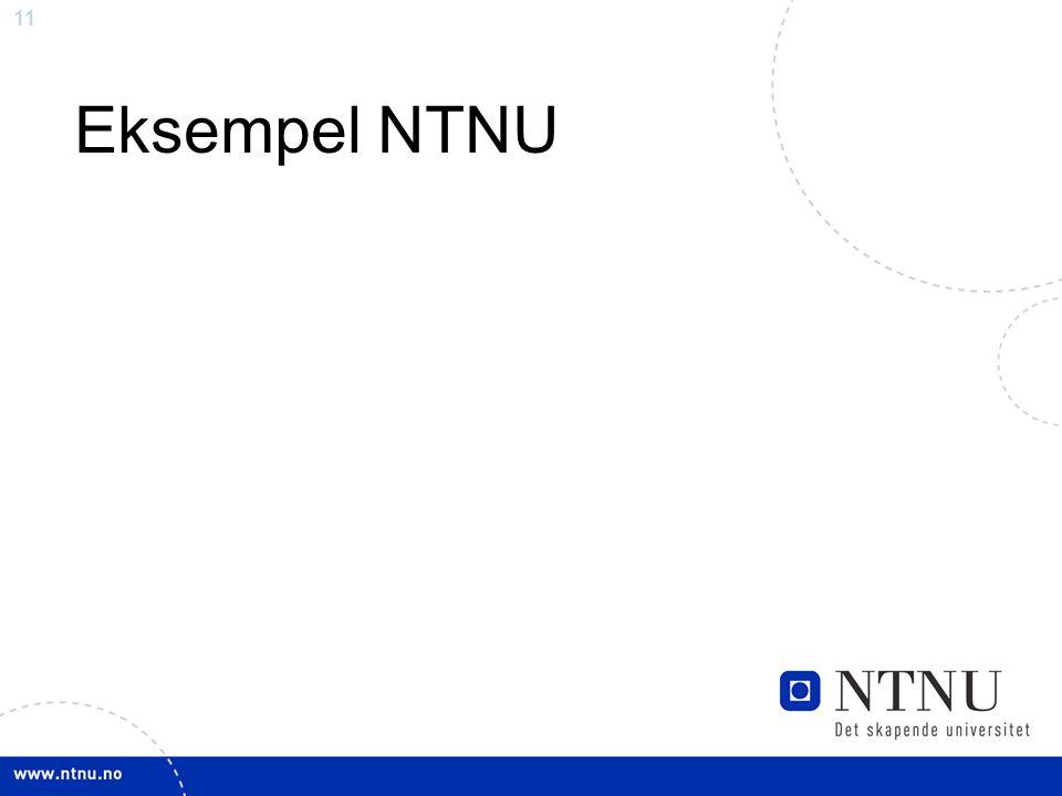 11 Eksempel NTNU