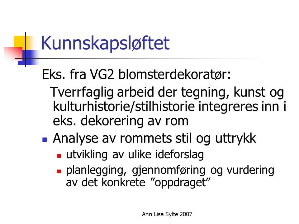 Ann Lisa Sylte 2007 Kunnskapsløftet Eks.