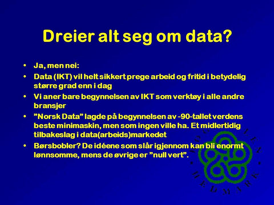 Dreier alt seg om data.