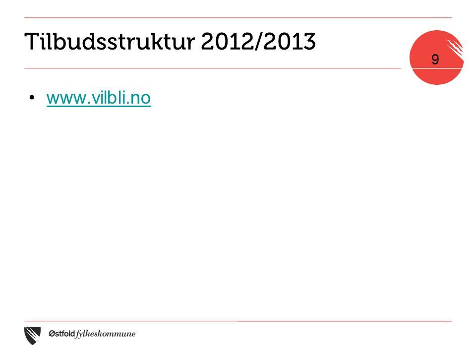 Tilbudsstruktur 2012/2013 •www.vilbli.nowww.vilbli.no 9