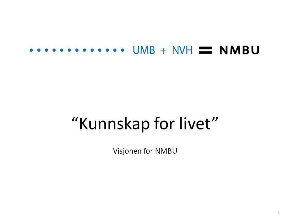 """""""Kunnskap for livet"""" Visjonen for NMBU 1"""