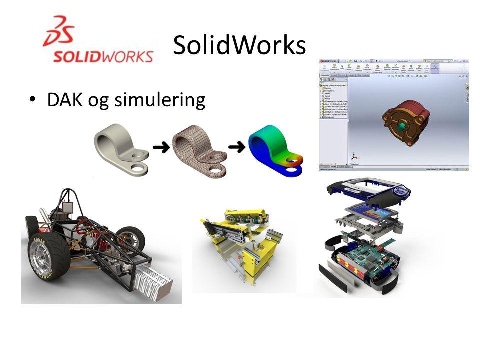 SolidWorks • DAK og simulering
