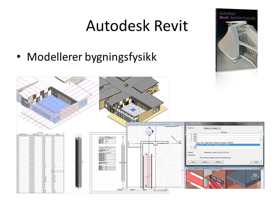 Autodesk Revit • Modellerer bygningsfysikk