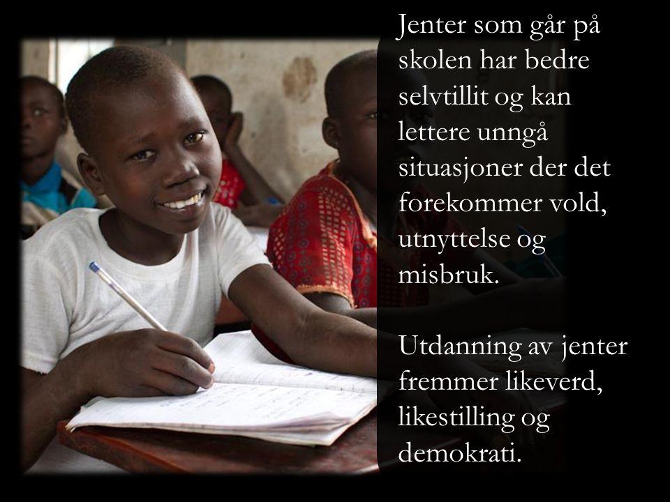 Jenter som går på skolen tar seg bedre av barna sine.