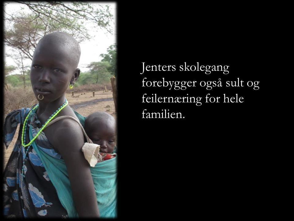 Jenters skolegang forebygger også sult og feilernæring for hele familien.