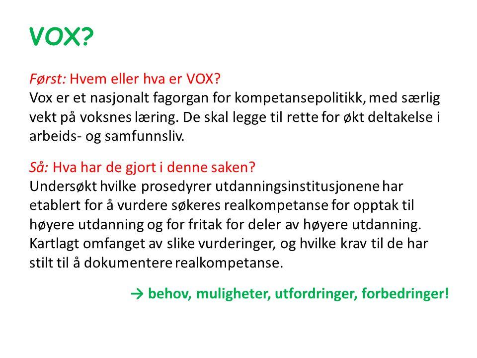 VOX.Først: Hvem eller hva er VOX.