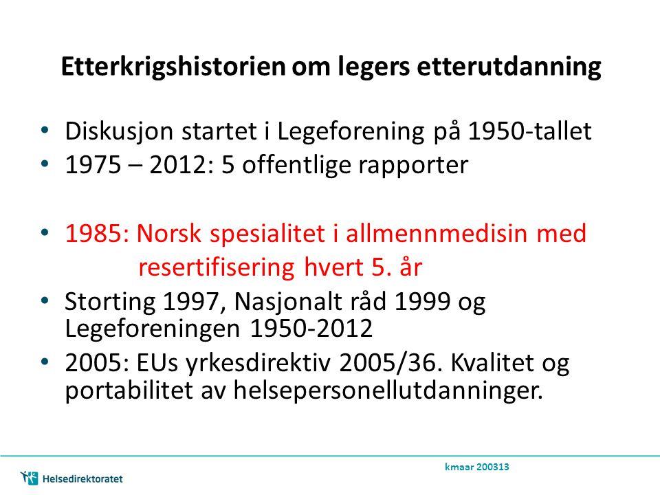 Etterkrigshistorien om legers etterutdanning • 2005 EUs yrkesdirektiv 2005/36.