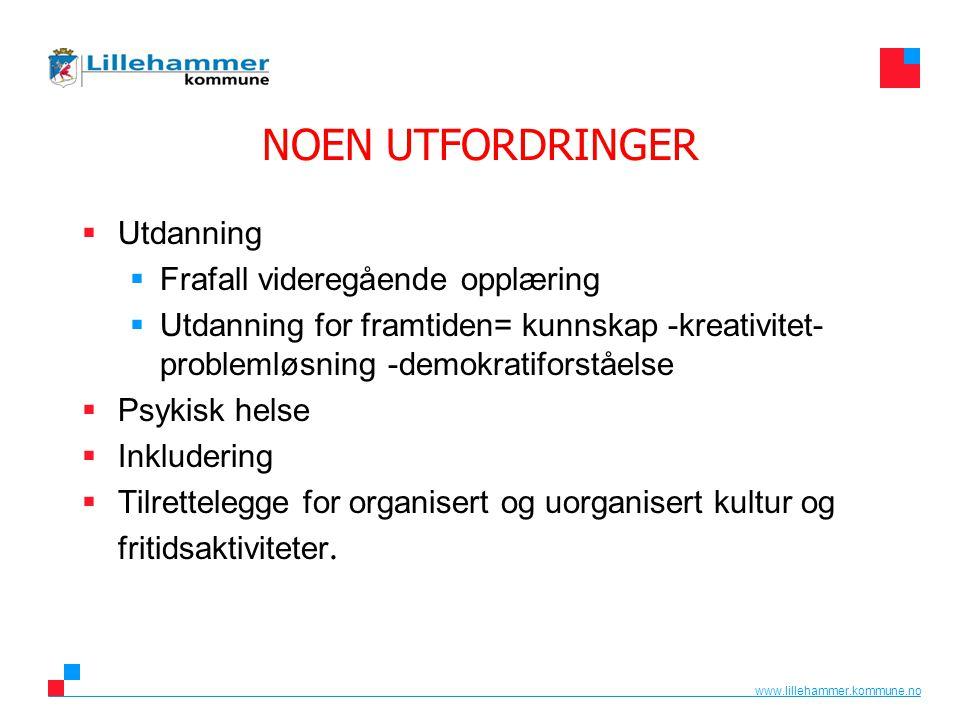www.lillehammer.kommune.no Tidlig innsats  Gode lavterskeltilbud.