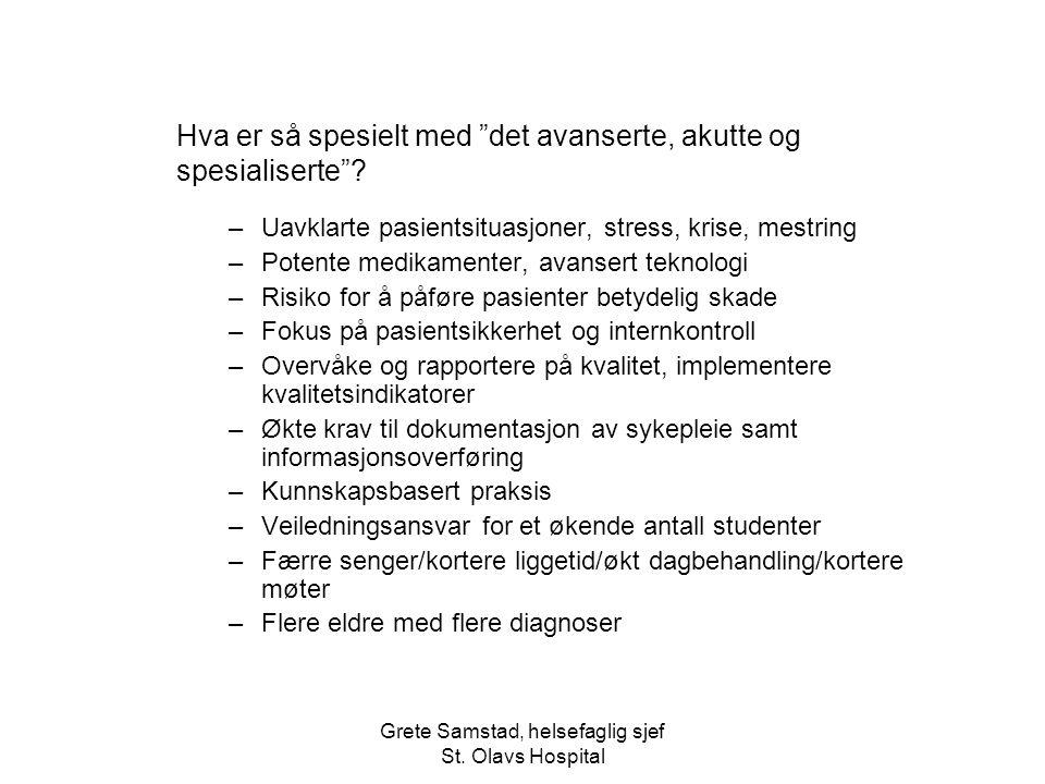 Grete Samstad, helsefaglig sjef St.
