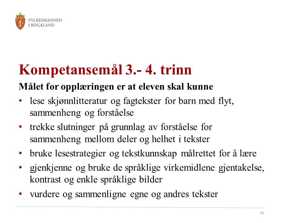 24 Kompetansemål 3.- 4.