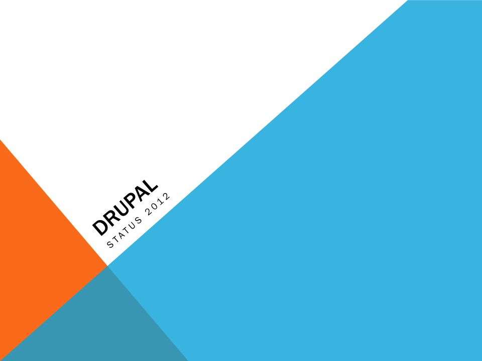 DRUPAL STATUS 2012