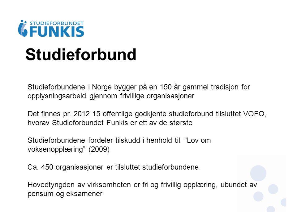 Studieforbund Studieforbundene i Norge bygger på en 150 år gammel tradisjon for opplysningsarbeid gjennom frivillige organisasjoner Det finnes pr. 201