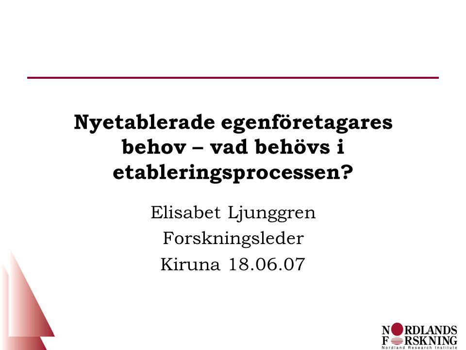 Barrierer for utvikling av prosjektet/bedriften (Alsos, Brastad, Iakovleva & Ljunggren, 2006)
