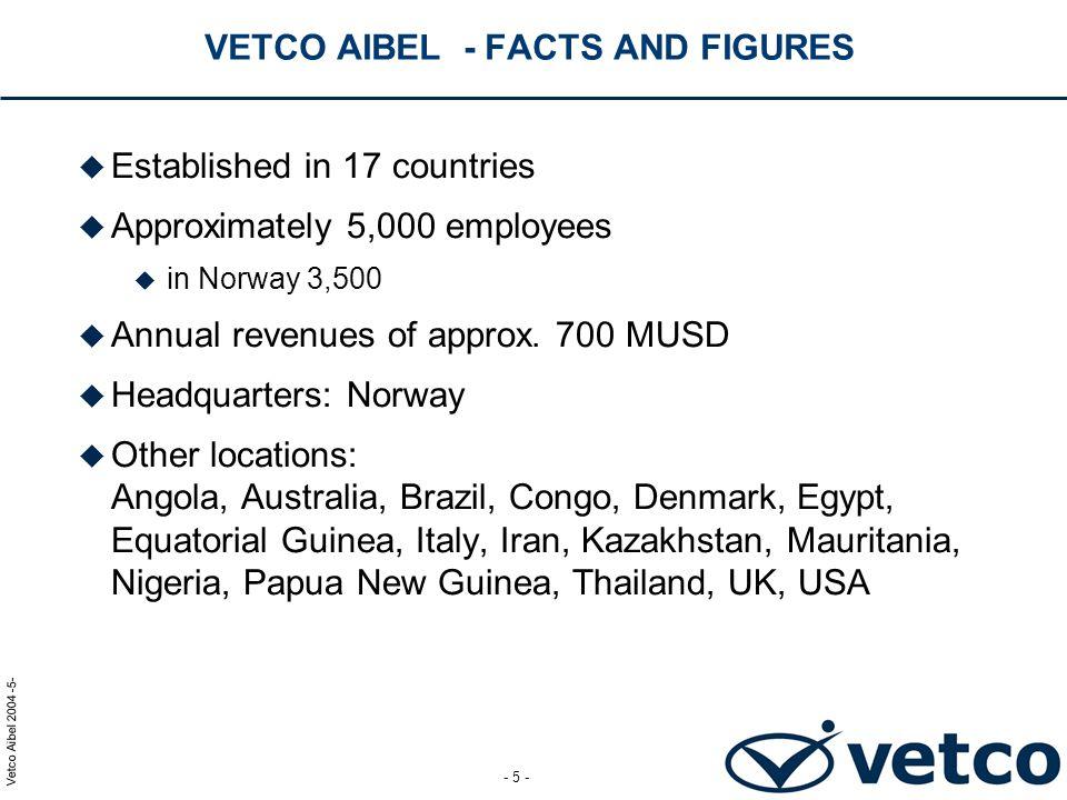 Vetco Aibel 2004 -16- - 16 - ORMEN LANGE ONSHORE FACILITIES MEG REGENERATION AND CONDENSATE EXPORT SYSTEMS PROJECT PROJECT PRESENTATION TIMEVERK OG FREMDRIFT