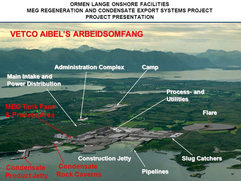 Vetco Aibel 2004 -17- - 17 - ORMEN LANGE ONSHORE FACILITIES MEG REGENERATION AND CONDENSATE EXPORT SYSTEMS PROJECT PROJECT PRESENTATION BEMANNING