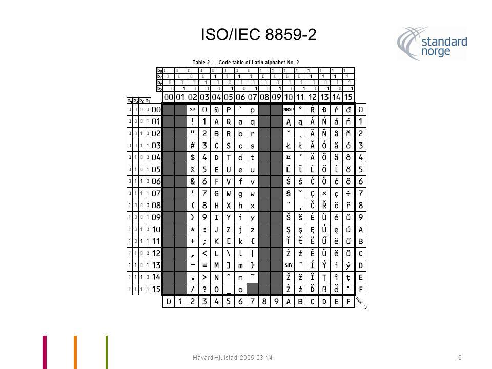 Håvard Hjulstad, 2005-03-147 ISO/IEC 8859-4