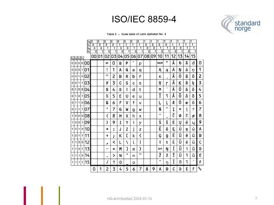 Håvard Hjulstad, 2005-03-148 ISO/IEC 8859-10