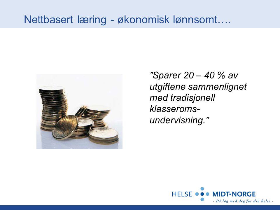 Nettbasert læring - økonomisk lønnsomt….