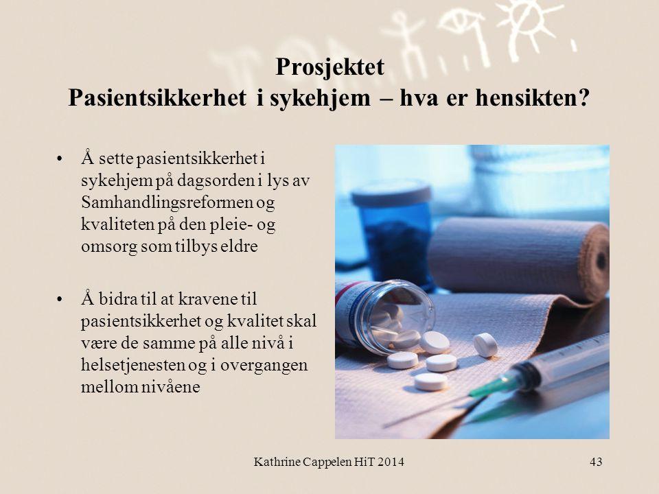 Prosjektet Pasientsikkerhet i sykehjem – hva er hensikten? •Å sette pasientsikkerhet i sykehjem på dagsorden i lys av Samhandlingsreformen og kvalitet