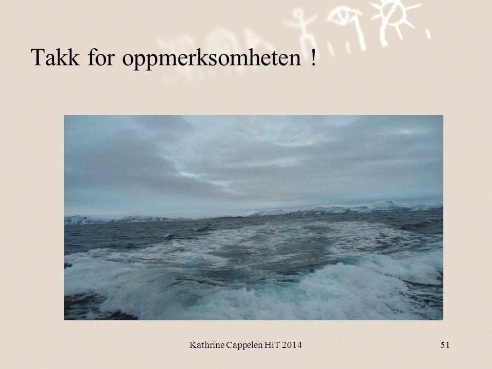 Takk for oppmerksomheten ! Kathrine Cappelen HiT 201451