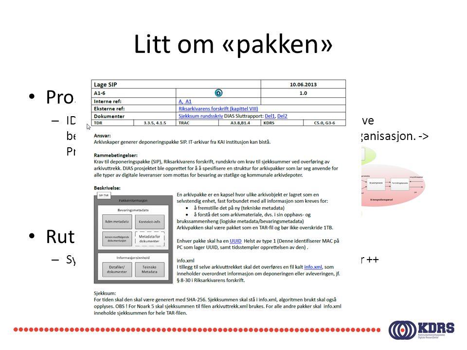 Litt om «pakken» • Prossesmodell i Viso – IDEF0, grafisk modelleringsspråk som brukes for å beskrive beslutninger, aktiviteter, handlinger i ett system eller organisasjon.