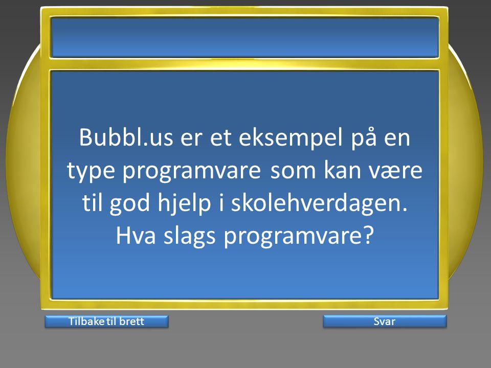 Bubbl.us er et eksempel på en type programvare som kan være til god hjelp i skolehverdagen.