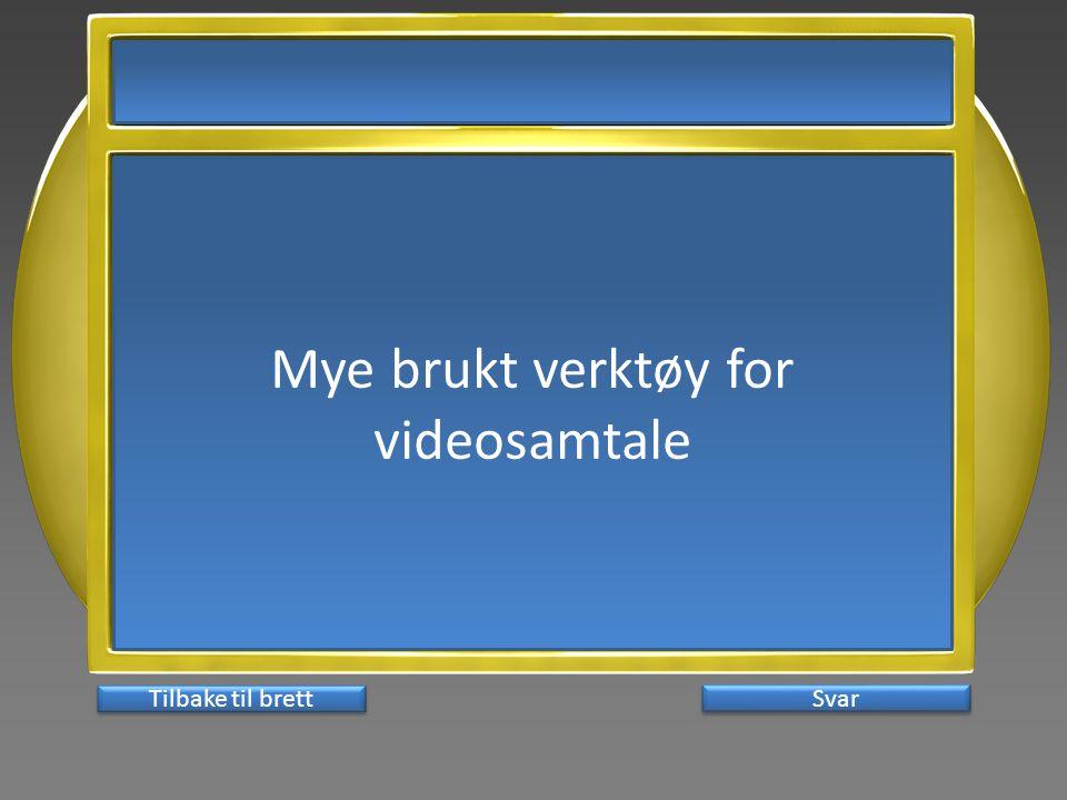 Mye brukt verktøy for videosamtale Svar Tilbake til brett