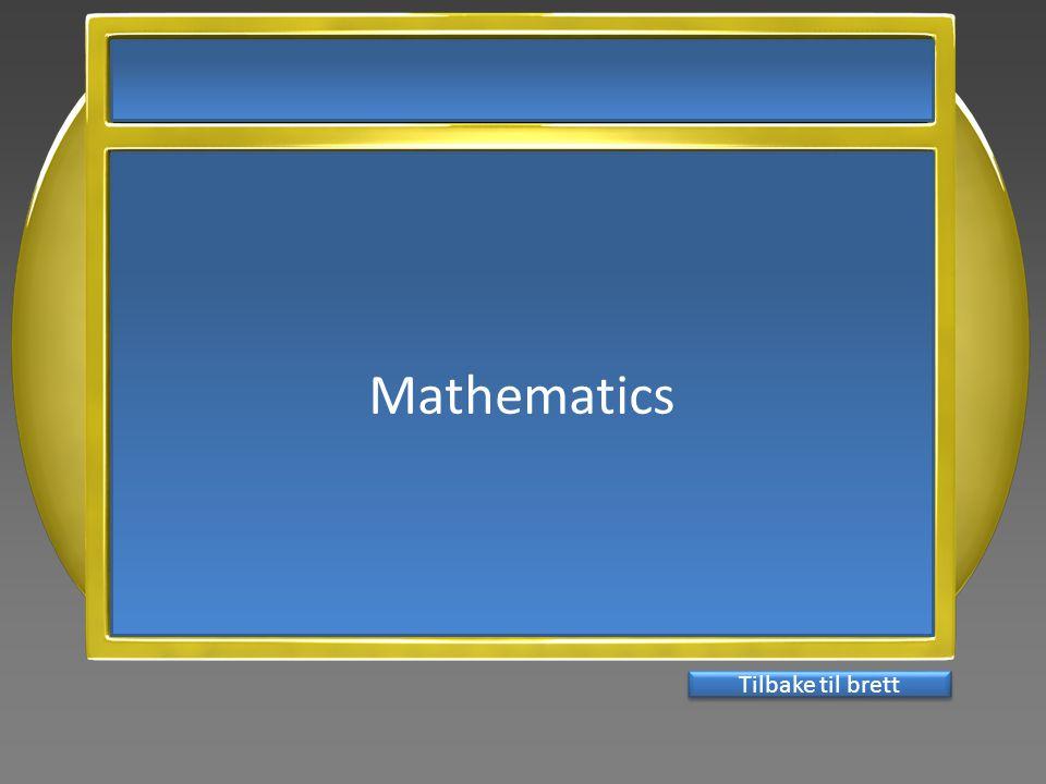 Mathematics Tilbake til brett