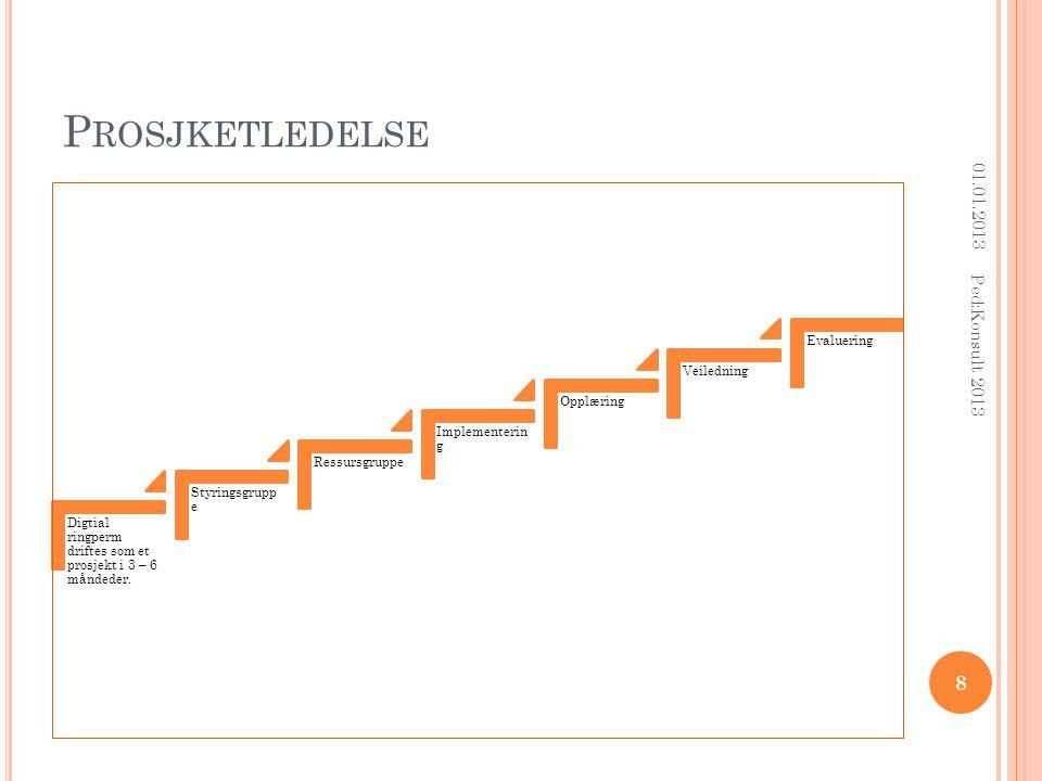 P ROSJKETLEDELSE Digtial ringperm driftes som et prosjekt i 3 – 6 måndeder.