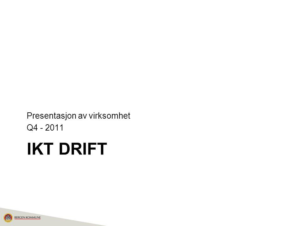 IKT DRIFT Presentasjon av virksomhet Q4 - 2011