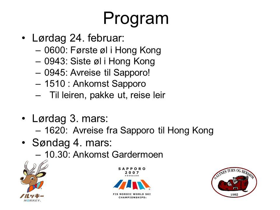 Søndag: 14:00 CC, Ladies Pursuit 7.5 km C + 7.5 km F Shirahata 18:00 SJ, Team HS 134 Mandag: Fri lek!.