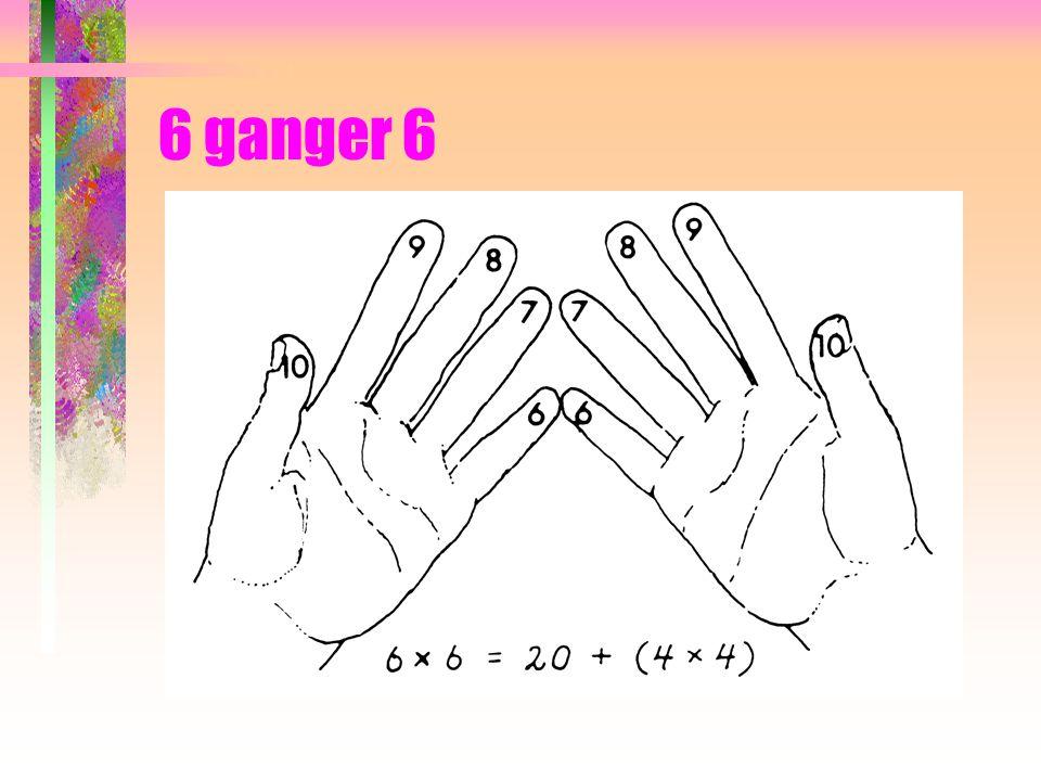 Å gange tall med hverandre på fingrene