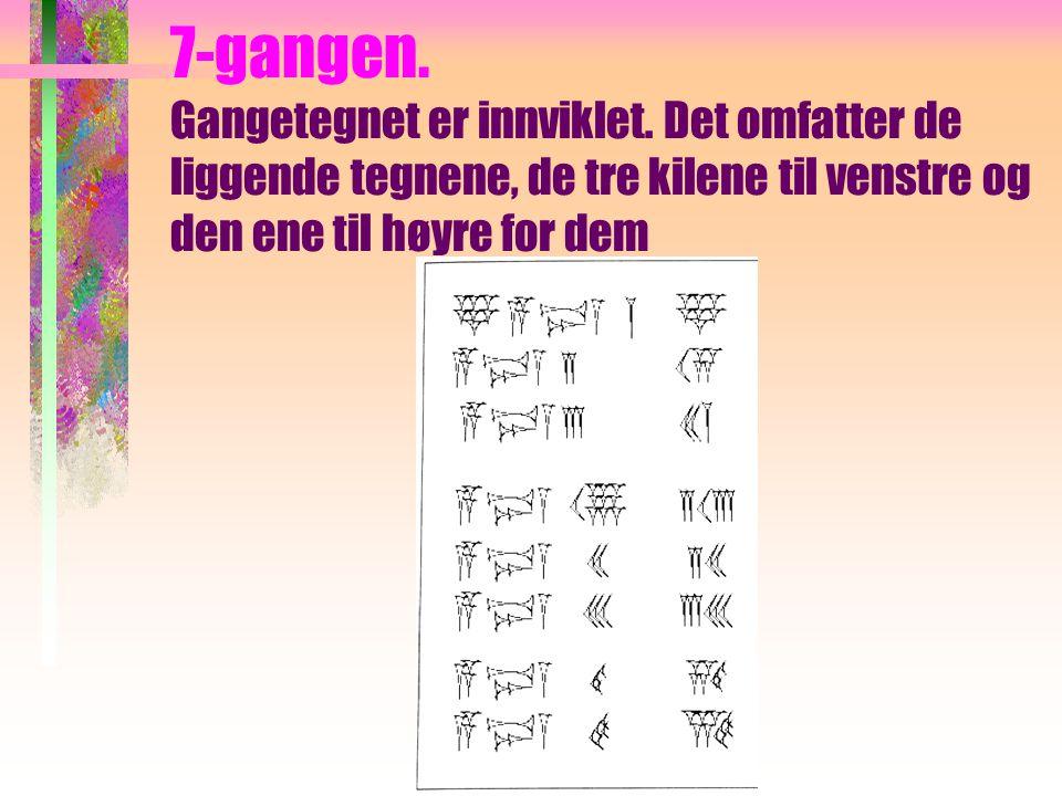 """""""Håndskrift"""" I praksis ble tegnene skrevet litt tettere, men alltid fra venstre mot høyre. Et eksempel: Tallet 59 kunne skrives slik:"""