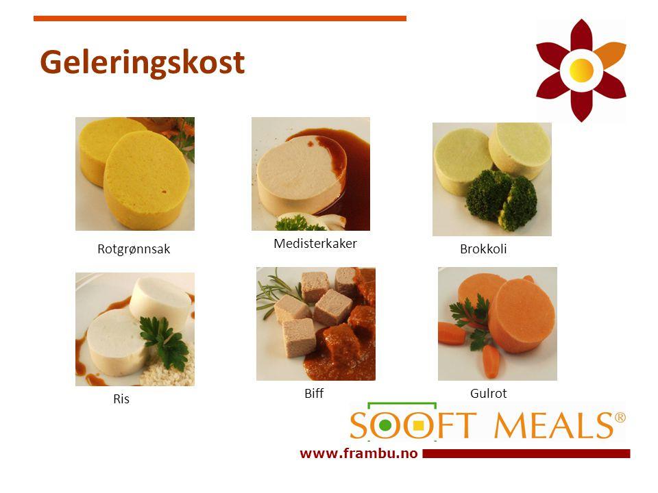 www.frambu.no Geleringskost Biff Medisterkaker RotgrønnsakBrokkoli Gulrot Ris