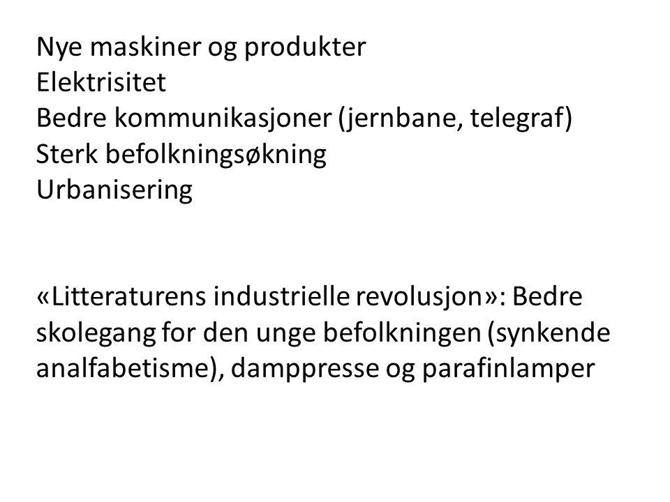 Det litterære marked utvides og institusjonaliseres I Norge: J.