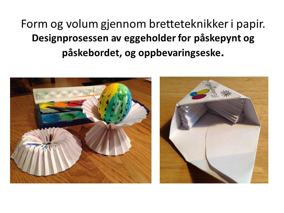 Form og volum gjennom bretteteknikker i papir.