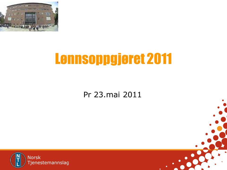 Lønnsoppgjøret 2011 Pr 23.mai 2011