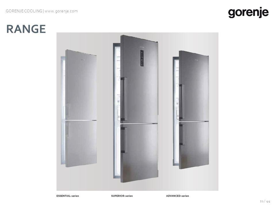 KOMBISKAP NY GENERASJON 20 / 44 GORENJE COOLING | www.gorenje.com