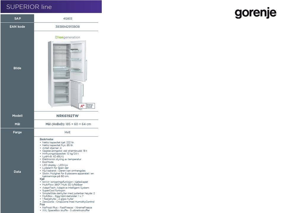 RANGE GORENJE COOLING | www.gorenje.com 21 / 44