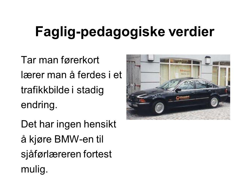 Trafikkbilde i stadig endring Elevene må kunne lese veiskiltene på den elektroniske landevei.